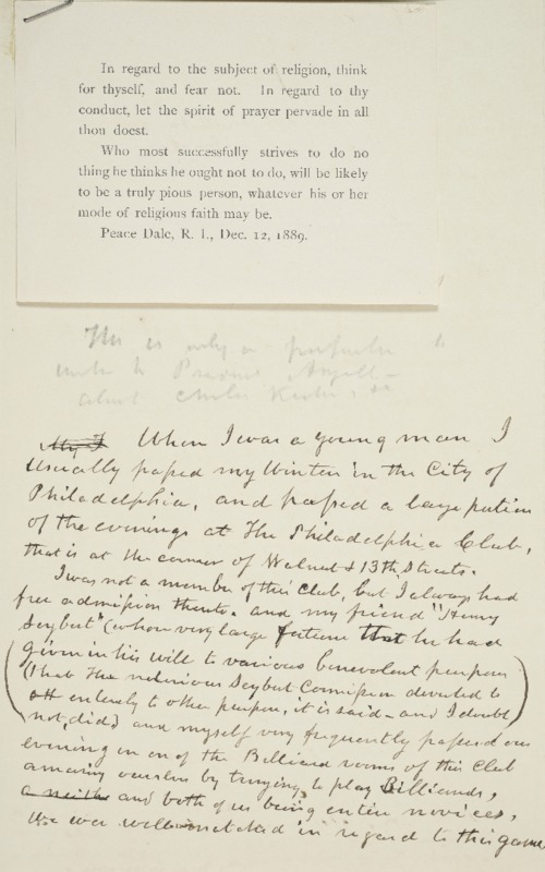 Letter to James Angell, 1891-02-21