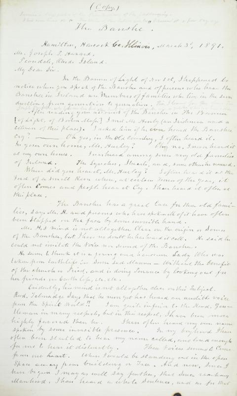 Letter to Hamilton, Hancock Co., 1891-03-03