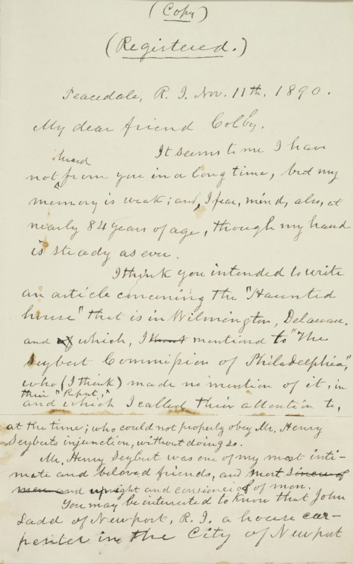 Letter to Luther Colby, 1890-11-11
